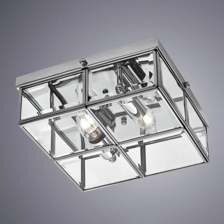 Потолочный светильник Arte Lamp Scacchi A6769PL-2CC, 2xE14x40W, хром, прозрачный, металл, стекло - миниатюра 1