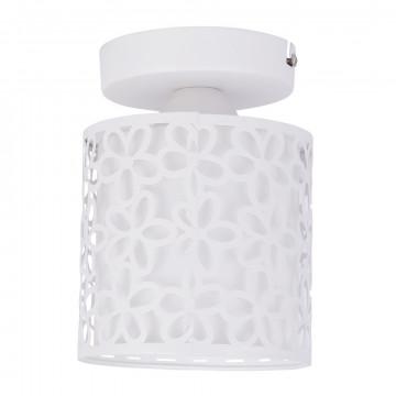 Потолочный светильник Arte Lamp Traforato A8349PL-1WH, 1xE14x40W, белый, металл, металл со стеклом