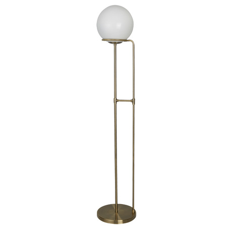 Торшер Arte Lamp Bergamo A2990PN-1AB, 1xE27x60W, бронза, белый, металл, стекло