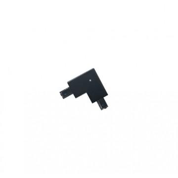 L-образный внутренний соединитель для встраиваемого шинопровода Eglo Track In 60744, черный, пластик