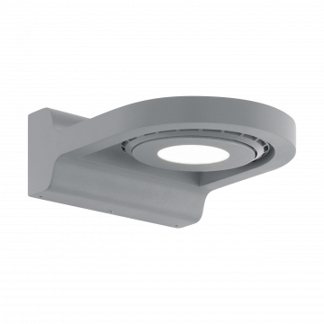 Настенный светодиодный светильник с регулировкой направления света Eglo Roales 96281, IP44, LED 3,2W 3000K 210lm, серебро, металл, пластик