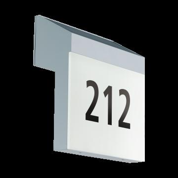 Светодиодный светильник-указатель Eglo Lunano 97339, IP44, серебро, белый, пластик