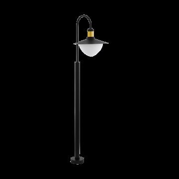 Уличный фонарь Eglo Sirmione 97287, IP44, 1xE27x60W, черный, черно-белый, металл, металл со стеклом/пластиком