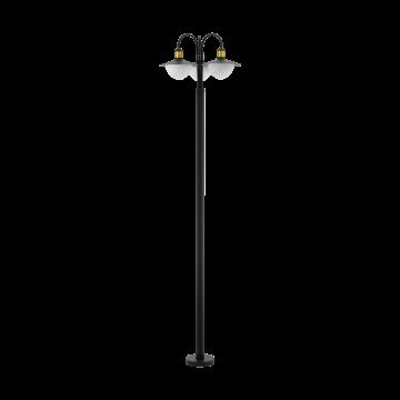 Уличный фонарь Eglo Sirmione 97288, IP44, 3xE27x60W, матовое золото, черный, белый, металл, стекло