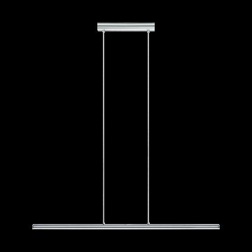Подвесной светодиодный светильник Eglo Terros 93565, LED 18W 3000K 1300lm, хром, металл, пластик