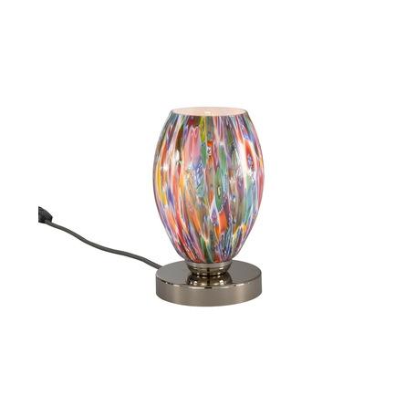Настольная лампа Reccagni Angelo P 10009/1, 1xE27x60W, серебро, разноцветный, металл, муранское стекло