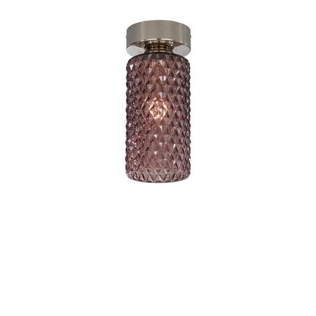 Потолочный светильник Reccagni Angelo PL 10001/1, 1xE27x60W, серебро, фиолетовый, металл, стекло