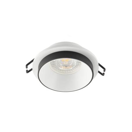 Встраиваемый светильник Denkirs DK2400 DK2401-BK, 1xGU10x50W, белый с черным, металл