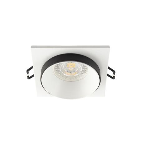 Встраиваемый светильник Denkirs DK2400 DK2402-BK, 1xGU10x50W, белый с черным, металл