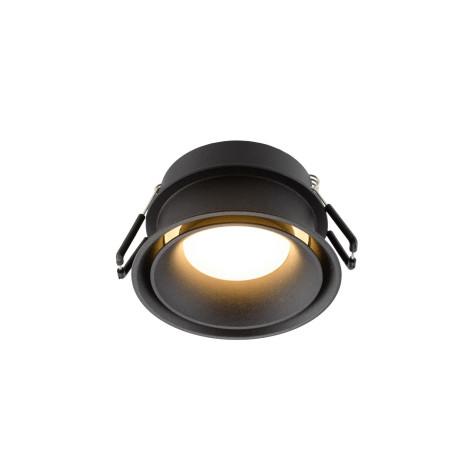 Встраиваемый светильник Denkirs DK2403-BK, IP44, 1xGU10x50W, черный, пластик