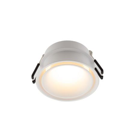 Встраиваемый светильник Denkirs DK2403-WH, IP44, 1xGU10x50W, белый, пластик