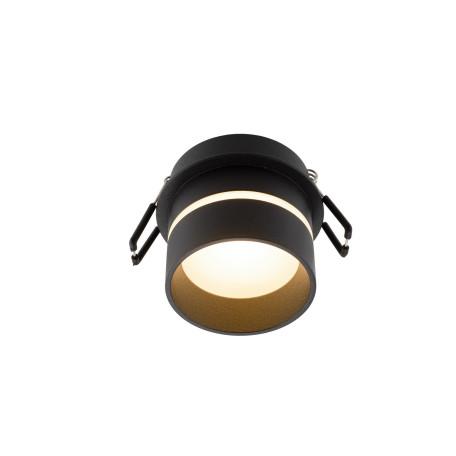 Встраиваемый светильник Denkirs DK2404-BK, IP44, 1xGU10x50W, черный, пластик