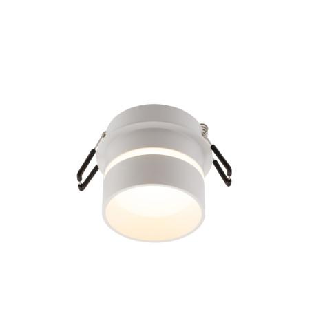 Встраиваемый светильник Denkirs DK2404-WH, IP44, 1xGU10x50W, белый, пластик
