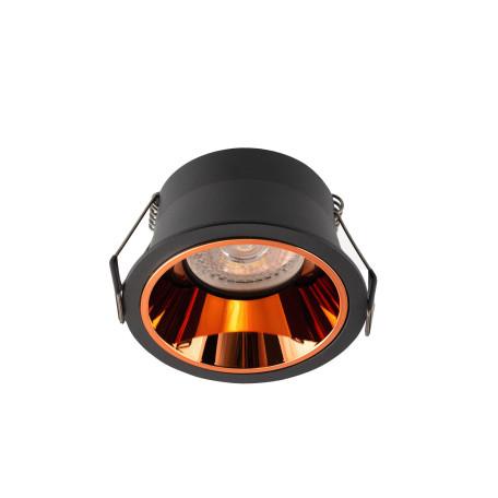 Встраиваемый светильник Denkirs DK2410-BK, 1xGU10x50W, медь с черным, металл