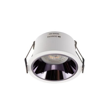 Встраиваемый светильник Denkirs DK2410-WH, 1xGU10x50W, хром с белым, металл