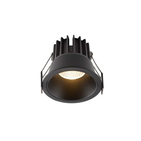 Встраиваемый светодиодный светильник Denkirs DK4400-BK, LED 7W, черный, металл