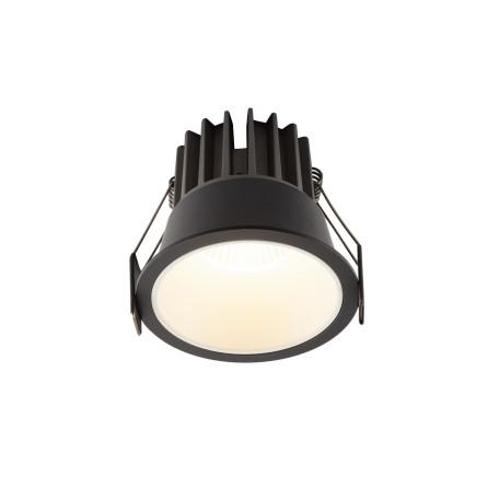 Встраиваемый светодиодный светильник Denkirs DK4400-BW, LED 7W, белый с черным, металл
