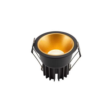 Встраиваемый светодиодный светильник Denkirs DK4400-GB, LED 7W, золото с черным, металл