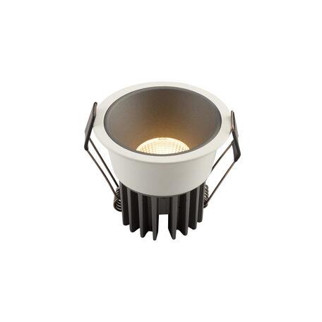 Встраиваемый светодиодный светильник Denkirs DK4400-GW, LED 7W, серый с белым, металл