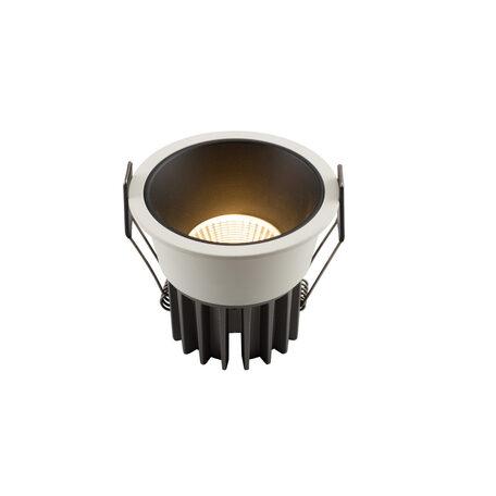 Встраиваемый светодиодный светильник Denkirs DK4400-WB, LED 7W, черный с белым, металл