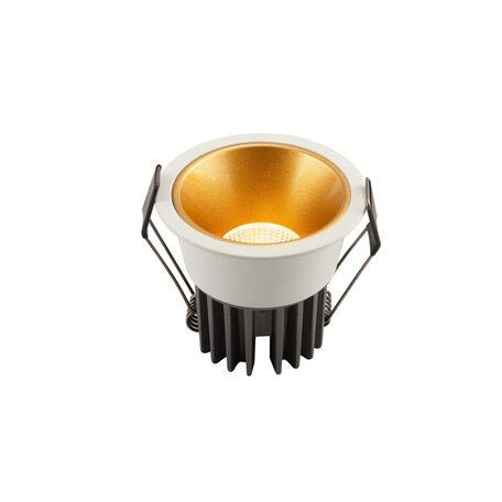Встраиваемый светодиодный светильник Denkirs DK4400-WG, LED 7W, золото с белым, металл