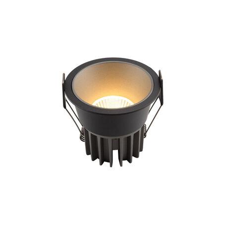 Встраиваемый светодиодный светильник Denkirs DK4500-BG, LED 12W, серый с черным, металл