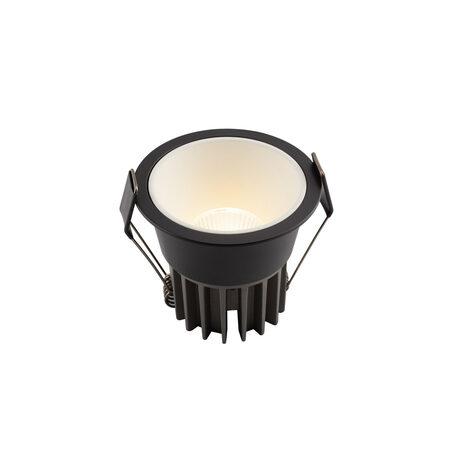 Встраиваемый светодиодный светильник Denkirs DK4500-BW, LED 12W, белый с черным, металл