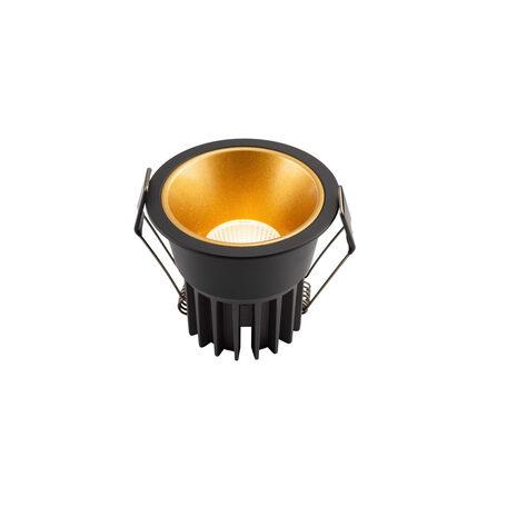 Встраиваемый светодиодный светильник Denkirs DK4500-GB, LED 12W, золото с черным, металл