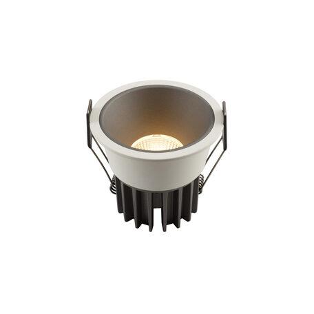 Встраиваемый светодиодный светильник Denkirs DK4500-GW, LED 12W, серый с белым, металл