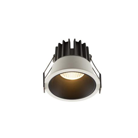 Встраиваемый светодиодный светильник Denkirs DK4500-WB, LED 12W, черный с белым, металл