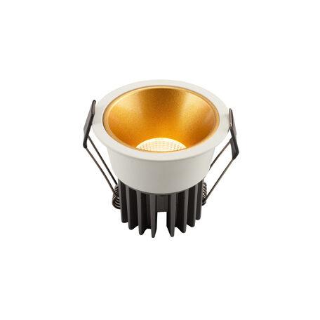 Встраиваемый светодиодный светильник Denkirs DK4500-WG, LED 12W, золото с белым, металл