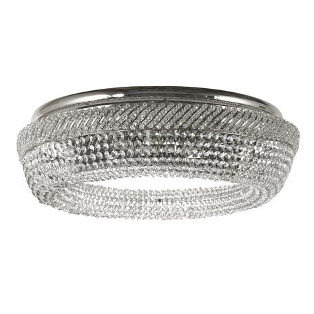 Потолочная люстра Dio D'Arte Bari E 1.4.60.100 N, 8xE27x60W, зеркальный, никель, прозрачный, зеркало, металл, хрусталь