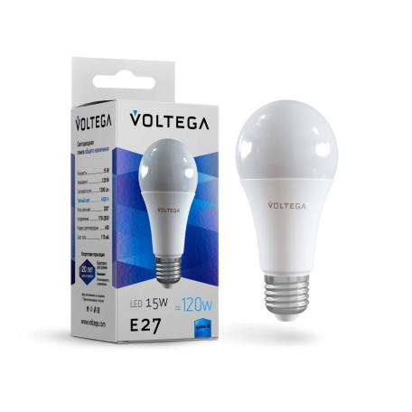 Светодиодная лампа Voltega Simple 7157 груша E27 15W, 4000K CRI80 170-265V, гарантия 2 года