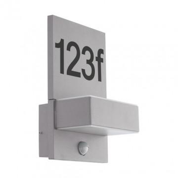 Светодиодный светильник-указатель Eglo Ardiano 97127, IP44, LED 11,2W 3000K 1200lm, серый, металл, металл с пластиком, пластик