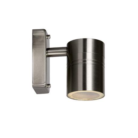 Настенный светильник Lucide Arne 14867/05/12, IP44, 1xGU10x5W, хром, металл, стекло