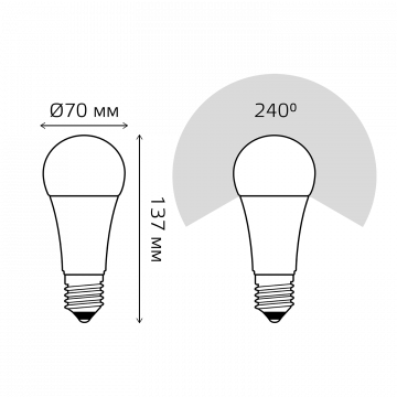 Схема с размерами Gauss Elementary 73225