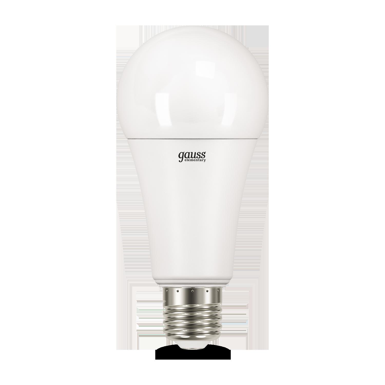 Светодиодная лампа Gauss Elementary 73235 груша E27 25W, 6500K (холодный) CRI>80 180-240V, гарантия 2 года - фото 2