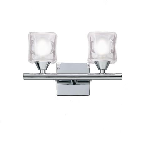 Бра Mantra Cuadrax 0953, хром, прозрачный, металл, стекло