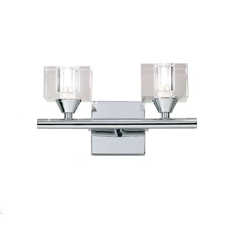 Бра Mantra Cuadrax 0963, хром, прозрачный, металл, стекло