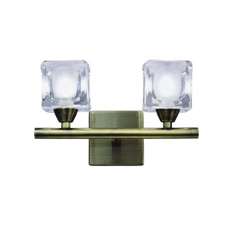 Бра Mantra Cuadrax 0993, бронза, металл, стекло