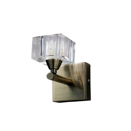 Бра Mantra Cuadrax 1102, бронза, металл, стекло
