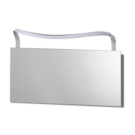 Настенный светильник Mantra Sisley 5089, IP44, матовый хром, белый, металл, пластик