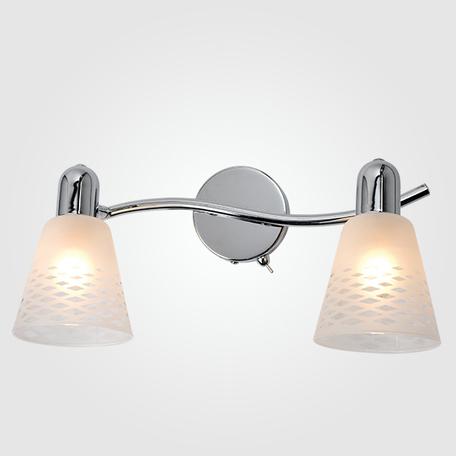 Настенный светильник с регулировкой направления света Eurosvet Organic 20053/2 хром, 2xE14x40W, хром, белый, металл, стекло