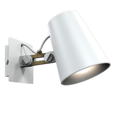 Настенный светильник с регулировкой направления света Mantra Looker 3772, белый, коричневый, дерево, металл