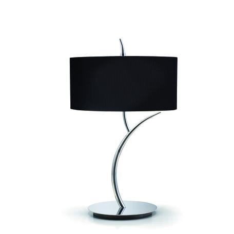 Настольная лампа Mantra Eve 1177, хром, черный, металл, стекло, текстиль