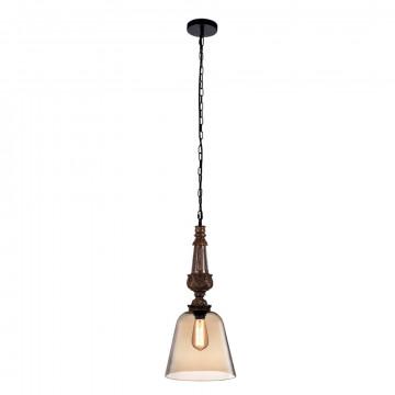 Подвесной светильник Crystal Lux DECO SP1 A AMBER 1530/201, 1xE27x60W, коричневый, янтарь, пластик, стекло
