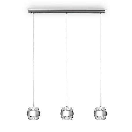 Подвесной светильник Mantra Khalifa 5168, хром, металл, стекло