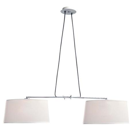Подвесной светильник Mantra Habana 5306+5308, белый, хром, металл, текстиль