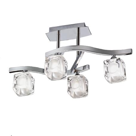 Потолочная люстра Mantra Cuadrax 0957, хром, прозрачный, металл, стекло