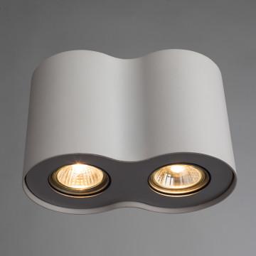 Потолочный светильник Arte Lamp Instyle Falcon A5633PL-2WH, 2xGU10x50W, белый, металл - миниатюра 2